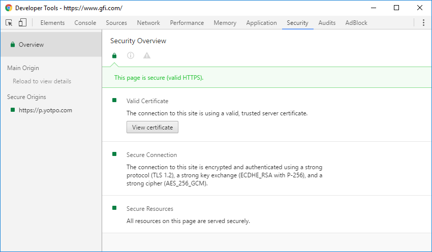 How to determine if a browser is using an SSL or TLS connection